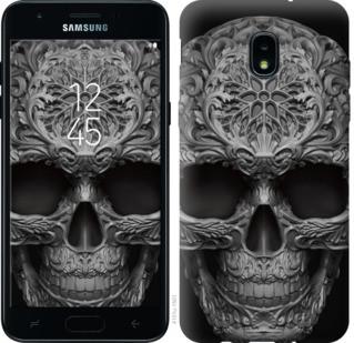 "Чехол на Samsung Galaxy J3 2018 skull-ornament ""4101u-1501-19380"""