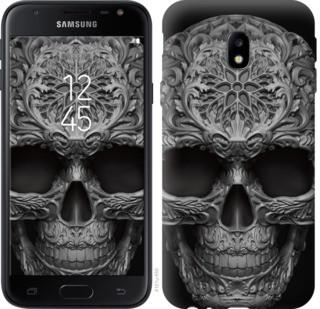 "Чехол на Samsung Galaxy J3 (2017) skull-ornament ""4101c-650-19380"""