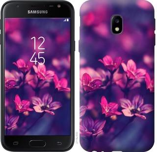 "Чехол на Samsung Galaxy J3 (2017) Пурпурные цветы ""2719c-650-19380"""