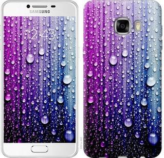 "Чехол на Samsung Galaxy C7 C7000 Капли воды ""3351u-302-19380"""