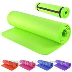 Йога-мат для фитнеса ПВХ 173 х 60 х 1 см