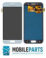 Дисплей для Samsung Galaxy A3 (2017) A320 с сенсорным стеклом Яркость регулируется (Голубой)TFT подсветка ориг