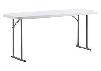 Складной стол PLTBY - 18301, белый пластик от ONDER MEBLI