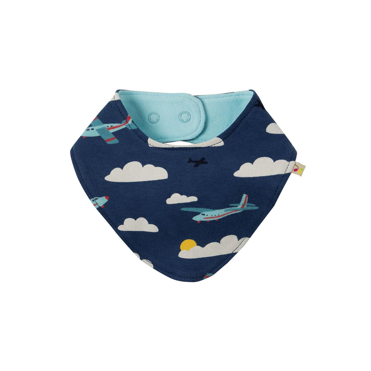 Нагрудник двусторонний Frugi  Marine Blue Fly Away, синий