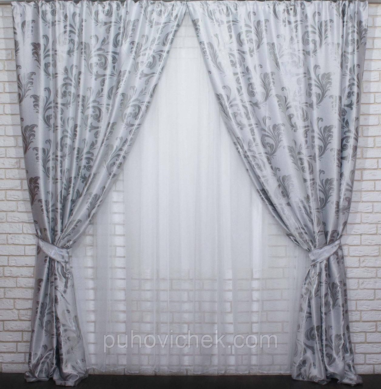 Модные шторы с тюлью для спальни Украина