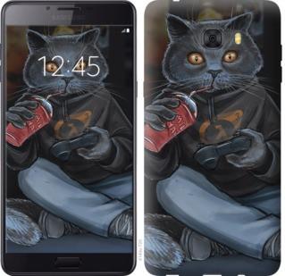 "Чехол на Samsung Galaxy C9 Pro gamer cat ""4140u-720-19380"""