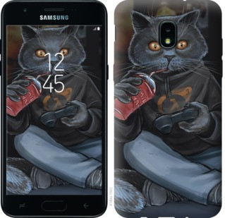 "Чехол на Samsung Galaxy J3 2018 gamer cat ""4140u-1501-19380"""