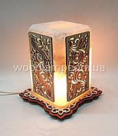 Соляной светильник Прямоугольный с нашивками