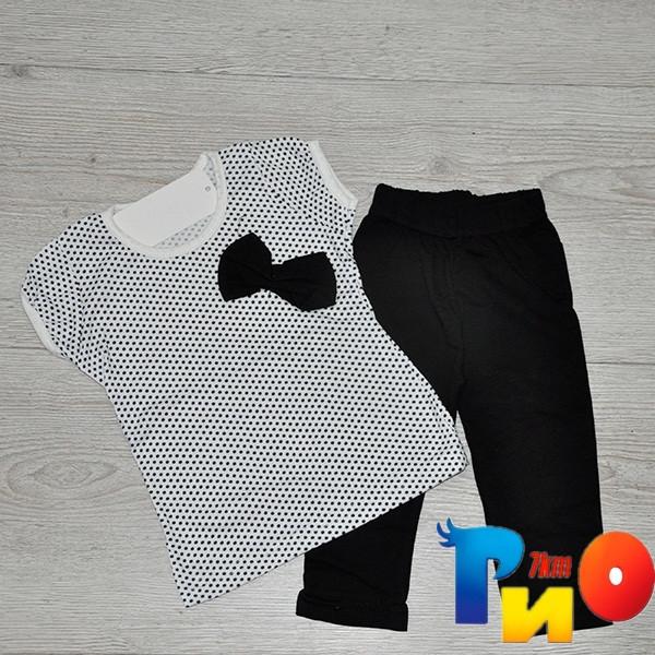 Костюм детский: футболка и бриджи, для девочек 3-7 лет (4 ед в уп)