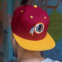 Снепбек мужской Washington Redskins козырек, фото 1