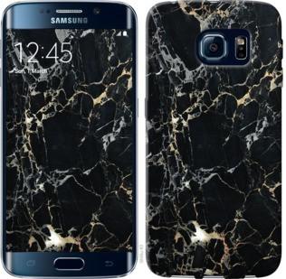 "Чехол на Samsung Galaxy S6 Edge G925F Черный мрамор ""3846c-83-19380"""