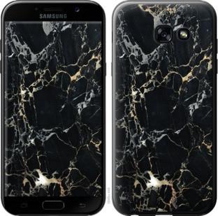 "Чехол на Samsung Galaxy A5 (2017) Черный мрамор ""3846c-444-19380"""