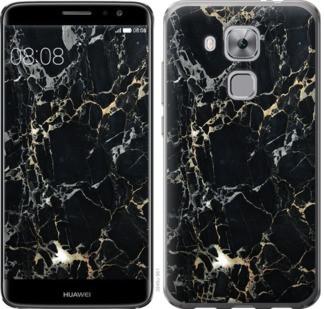 """Чехол на Huawei Nova Plus Черный мрамор """"3846c-961-19380"""""""