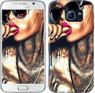 "Чехол на Samsung Galaxy S6 G920 Девушка в тату ""4001c-80-19380"""