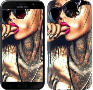 """Чехол на Samsung Galaxy J4 Plus 2018 Девушка в тату """"4001c-1594-19380"""""""