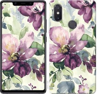 """Чехол на Xiaomi Mi8 SE Цветы акварелью """"2237u-1504-19380"""""""