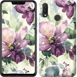 """Чехол на Huawei Nova 3i Цветы акварелью """"2237c-1541-19380"""""""