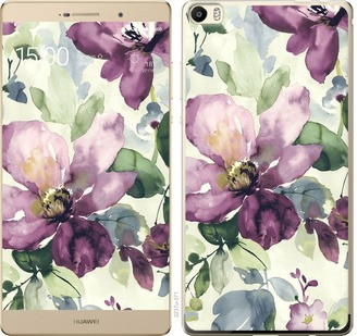 "Чехол на Huawei P8 Max Цветы акварелью ""2237u-371-19380"""
