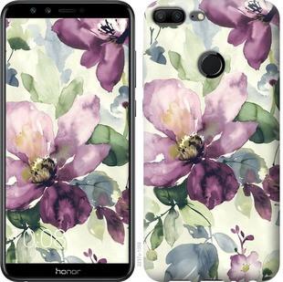 """Чехол на Huawei Honor 9 Lite Цветы акварелью """"2237c-1359-19380"""""""