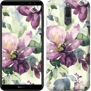 "Чехол на Huawei Mate 10 Lite / Honor 9i Цветы акварелью ""2237c-1240-19380"""