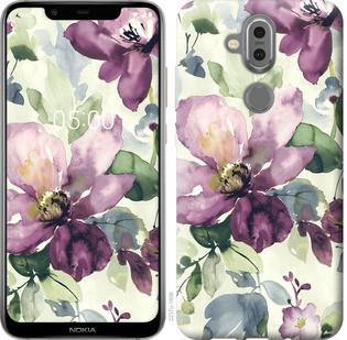 """Чехол на Nokia 7.1 Plus Цветы акварелью """"2237u-1606-19380"""""""