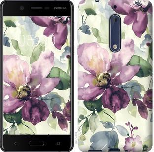"""Чехол на Nokia 5 Цветы акварелью """"2237c-804-19380"""""""