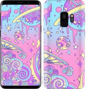"Чехол на Samsung Galaxy S9 Розовая галактика ""4146c-1355-19380"""