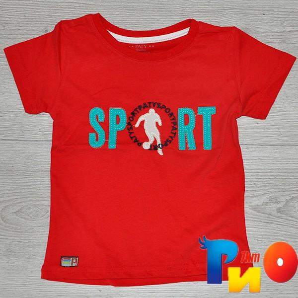 Детская трикотажная футболка  для мальчиков (1-10 лет) (5 ед в уп.)