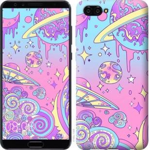 """Чехол на Huawei Nova 2S Розовая галактика """"4146u-1388-19380"""""""