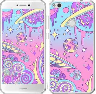 "Чехол на Huawei P8 Lite (2017) Розовая галактика ""4146c-777-19380"""