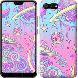 """Чехол на Huawei Honor 10 Розовая галактика """"4146u-1496-19380"""""""