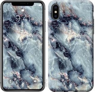 """Чехол на iPhone X Мрамор """"3479c-1050-19380"""""""