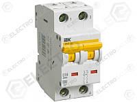 MVA41-2-050-D Защитный выключатель 50А  IEK ВА47-60 2Р, D, 6кА