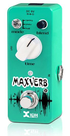 XVIVE D1 MAXVERB Напольная педаль эффектов для электрогитары цифровая Ревербератор