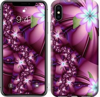 """Чехол на iPhone X Цветочная мозаика """"1961c-1050-19380"""""""
