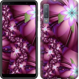 """Чехол на Samsung Galaxy A7 (2018) A750F Цветочная мозаика """"1961c-1582-19380"""""""
