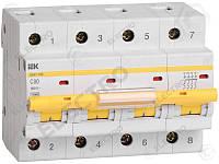 MVA40-4-050-C Защитный выключатель 50А  IEK ВА47-100 4Р, С, 10кА
