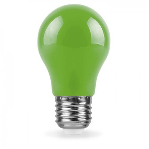 Декоративная светодиодная лампа зеленая LB-375 Е27 3W 230V Код.59592