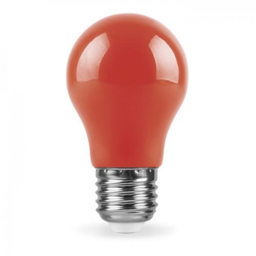 Декоративная светодиодная лампа красная LB-375 Е27 3W 230V Код.59590