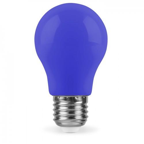 Декоративная светодиодная лампа синяя LB-375 Е27 3W 230V Код.59591