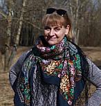 Майя 372-15, павлопосадский платок (шаль) из уплотненной шерсти с шелковой вязанной бахромой, фото 2