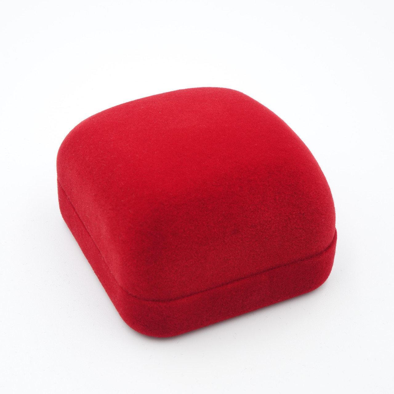 """Футляр под кольцо """"Классика прямоугольная"""" красный"""