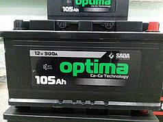 "АккумуляторSADA Optima6СТ-105Аз (105Ач, 900А, 0 ""+"" справа )"