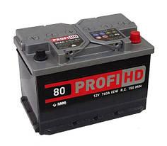 """Аккумулятор SADA 6СТ-80 АзЕ Profi HD, 0 """"+"""" справа)"""