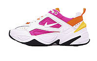 Женские кроссовки Nike M2K Tekno White/Orang/Pink