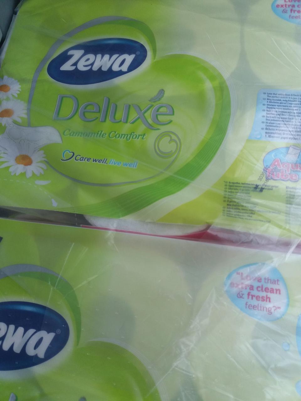 Туалетная бумага , Zewa Deluxe,16 рулонов, ароматизированная, Австрия ,Оригинал