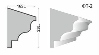 Фасадный молдинг (Тяга) фт-2