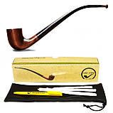 Трубка для курения KAF233 Churchwarden с длинным мундштуком из дерева груши, фото 4