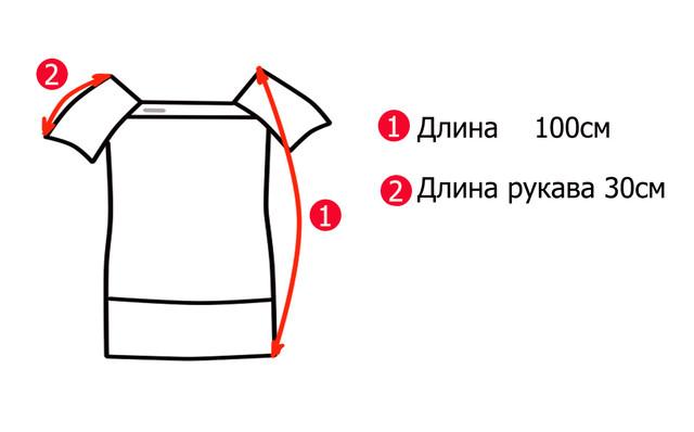 Основные замеры летнего трикотажного красивого платья для полных