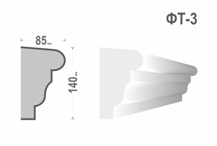Фасадный молдинг (Тяга) фт-3